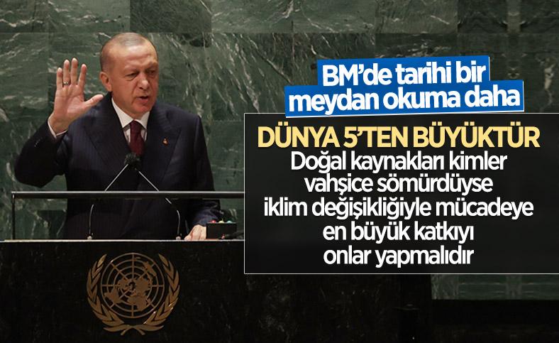 Cumhurbaşkanı Erdoğan'dan BM Genel Kurulu'nda iklim krizi çıkışı