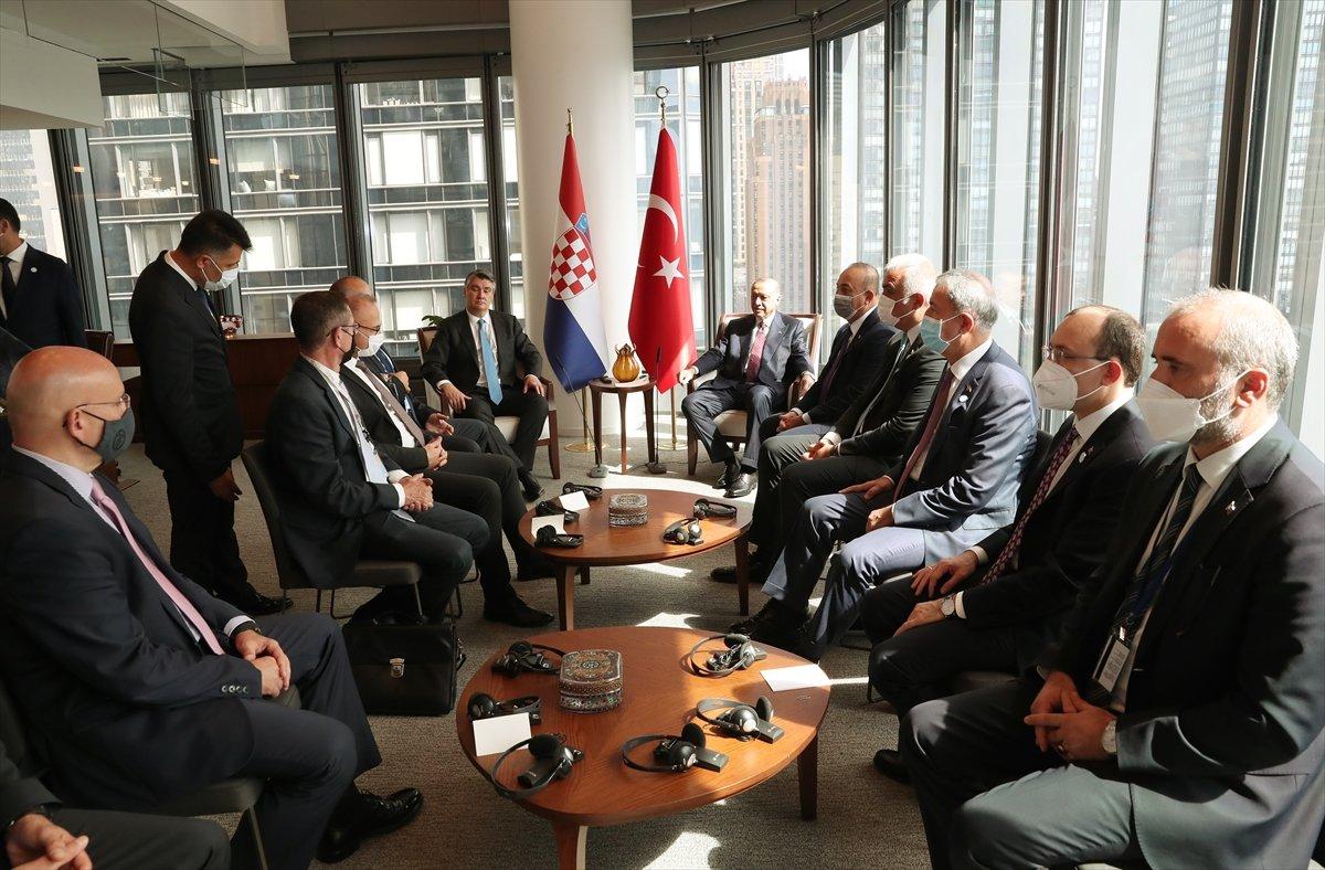 Cumhurbaşkanı Erdoğan, Hırvat mevkidaşı ile görüştü #3