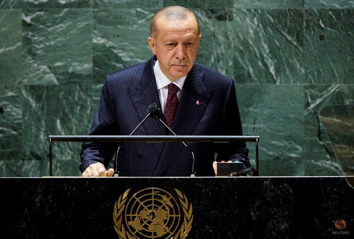 Cumhurbaşkanı Erdoğan dan BM Genel Kurulu nda iklim krizi çıkışı #1