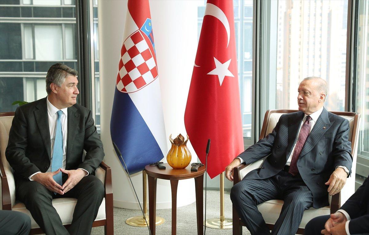Cumhurbaşkanı Erdoğan, Hırvat mevkidaşı ile görüştü #1