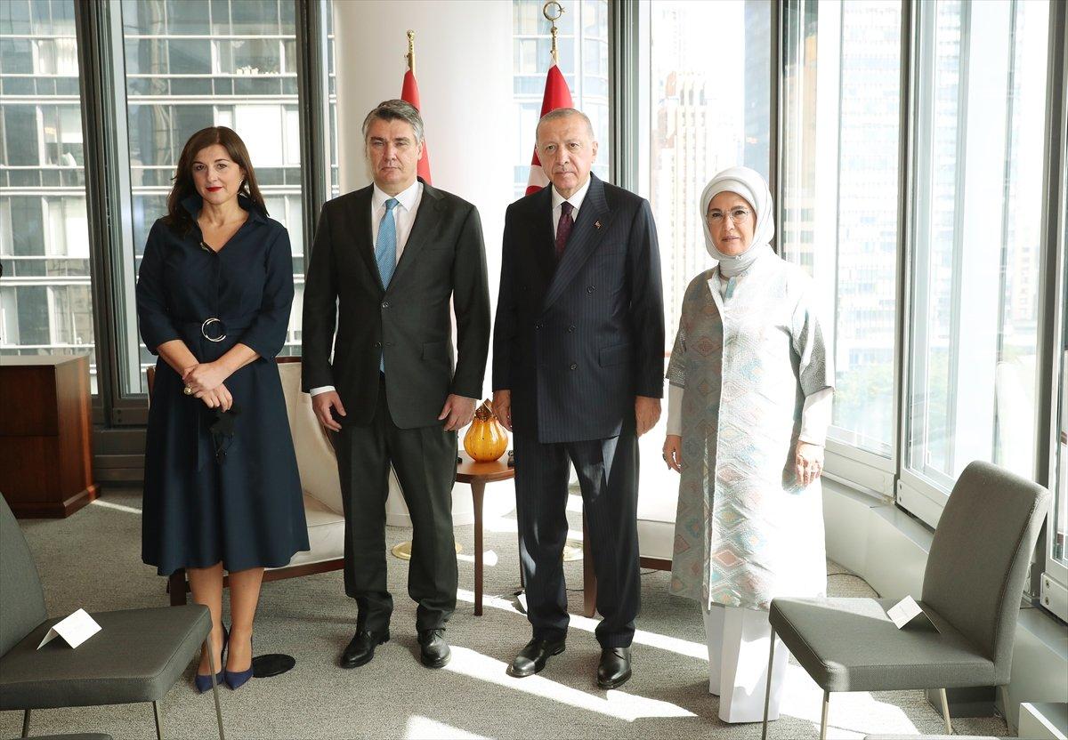 Cumhurbaşkanı Erdoğan, Hırvat mevkidaşı ile görüştü #2