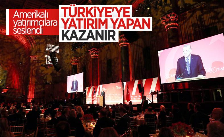 Cumhurbaşkanı Erdoğan, ABD'li yatırımcılara Türkiye'yi anlattı