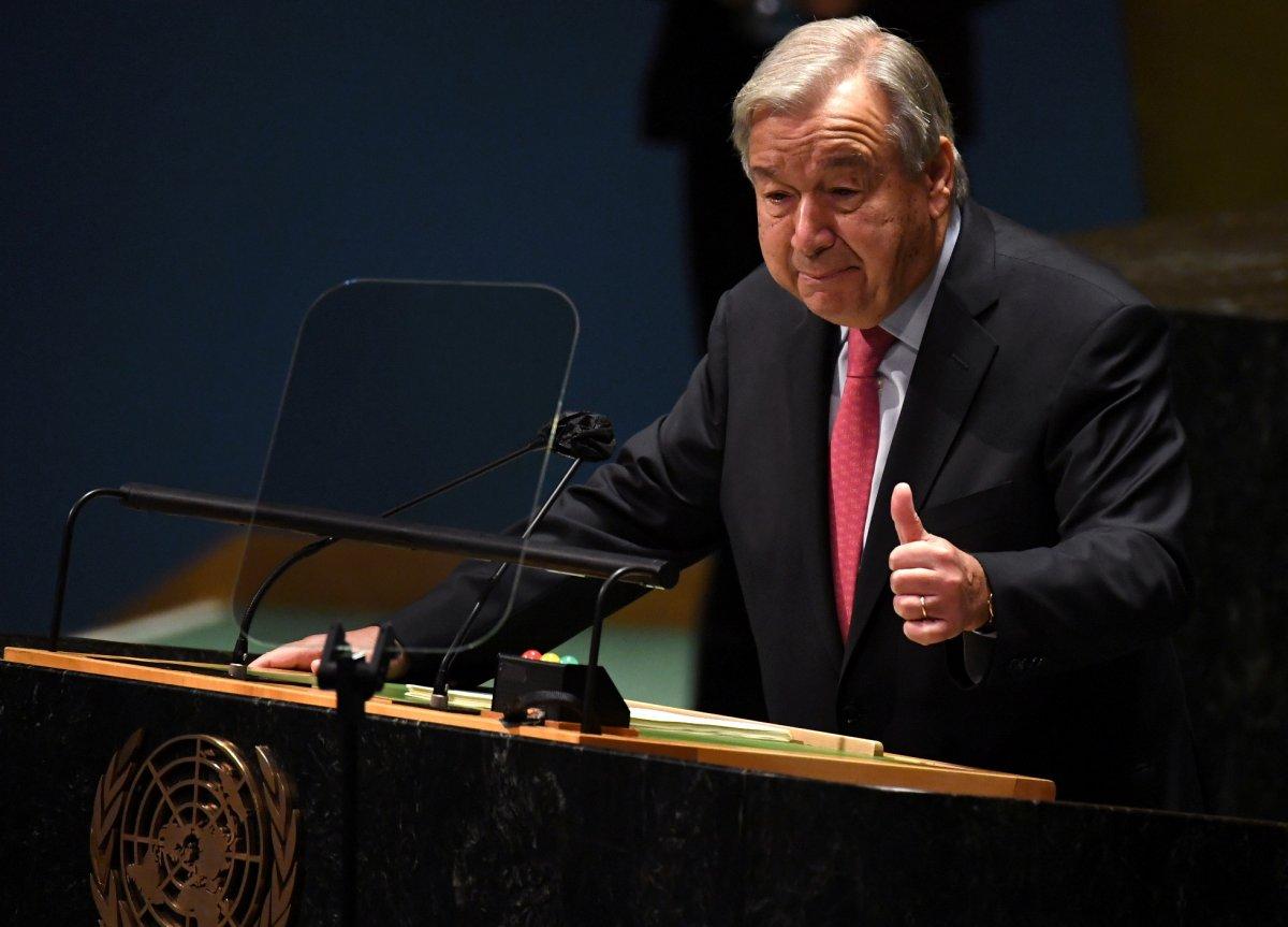 Antonio Guterres: Milyonlar açken milyarderler uzaya gidiyor #1