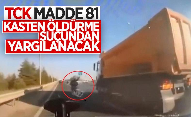 Ankara'da motosikletliye bilerek çarpan sürücünün soruşturması tamamlandı