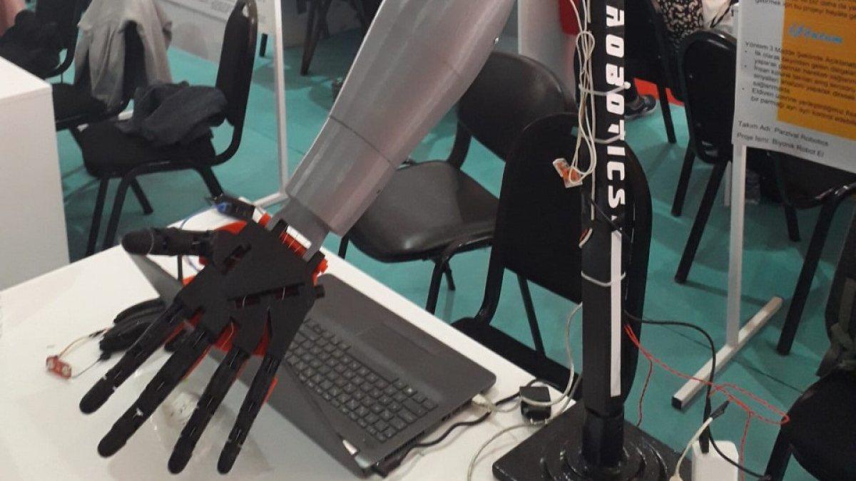 Biyonik robotik kol ve el projesi TEKNOFESTte