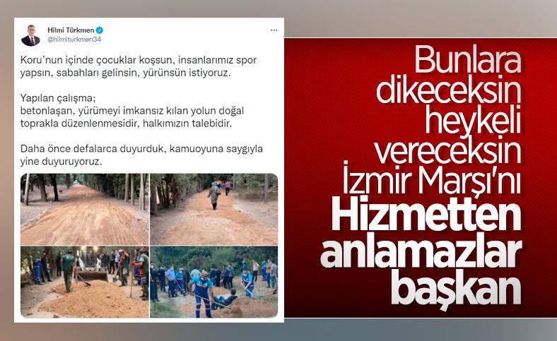 Üsküdar Belediyesi'nden Validebağ Korusu'na ilişkin açıklama