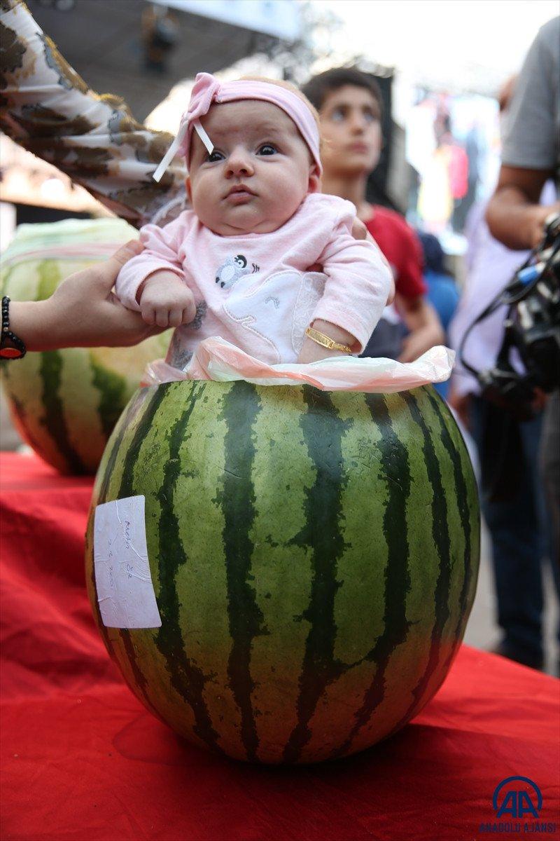 Diyarbakır da karpuz festivalinin birincisi: 45 kilo 500 gram  #7