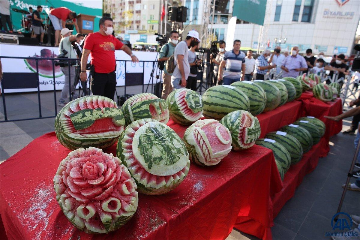 Diyarbakır da karpuz festivalinin birincisi: 45 kilo 500 gram  #1