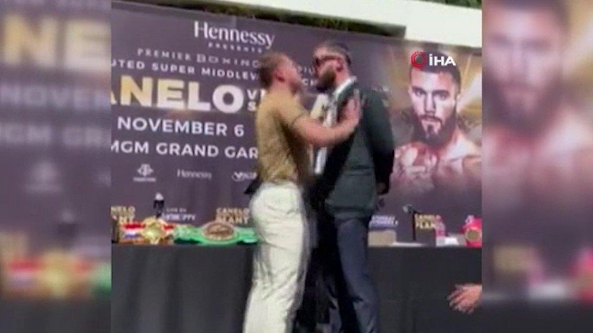 ABD li ve Meksikalı boksörler, basın toplantısında birbirine girdi #3