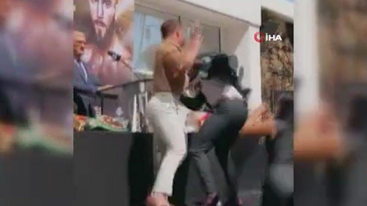 ABD li ve Meksikalı boksörler, basın toplantısında birbirine girdi #1