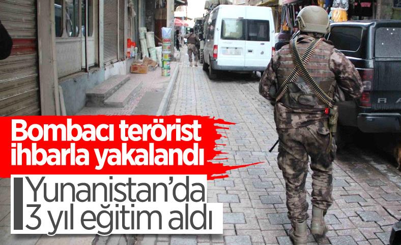 Diyarbakır'da bombalı eylem hazırlığındaki terörist yakalandı