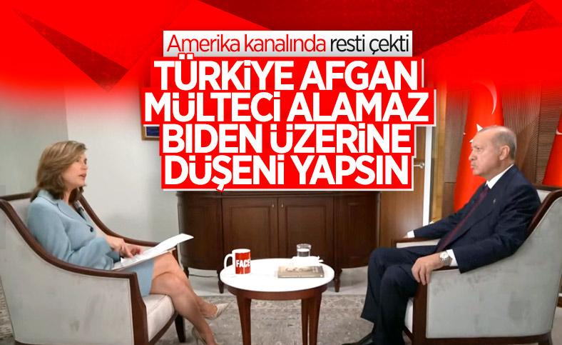 Cumhurbaşkanı Erdoğan: ABD, Afgan mülteciler konusunda daha fazlasını yapmalı