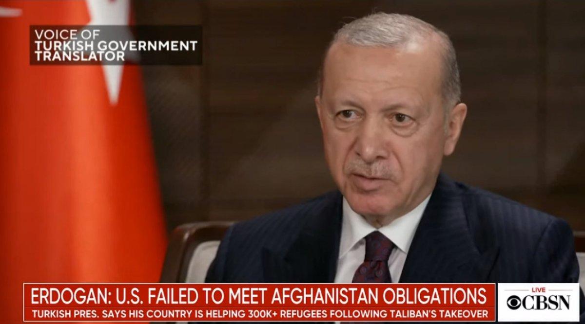 Cumhurbaşkanı Erdoğan: ABD, Afgan mülteciler konusunda daha fazlasını yapmalı #1