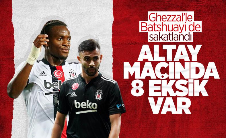 Beşiktaş'ta Altay maçı öncesi eksikler çoğaldı