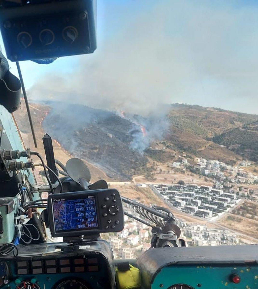 İzmir de makilik alanda yangın çıktı #4
