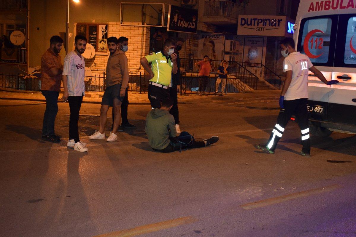 Malatya da otomobil ile motosiklet çarpıştı #2