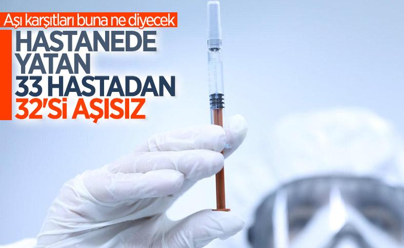 Ankara'da hastanede yatan 33 gebe hastadan 32'si aşısız