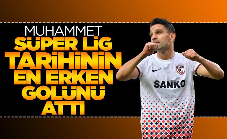 Muhammet Demir Süper Lig tarihinin en erken golünü attı