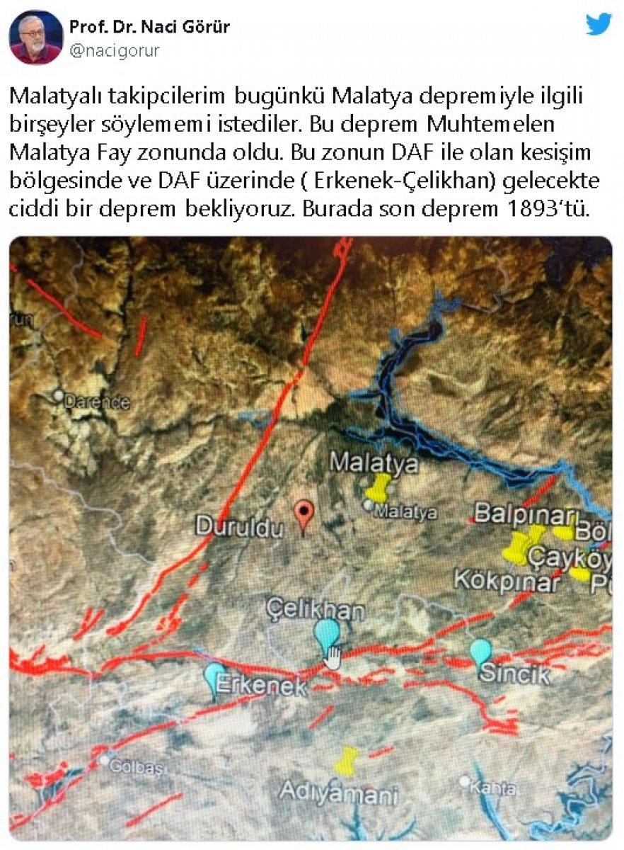 Naci Görür: Malatya da büyük bir deprem bekliyoruz #1