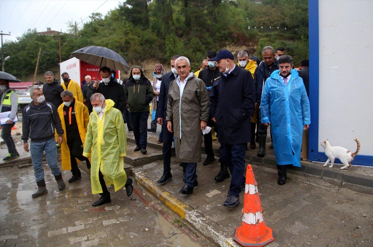 İçişleri Bakanı Süleyman Soylu, Kastamonu'daki çalışmaları inceledi #1