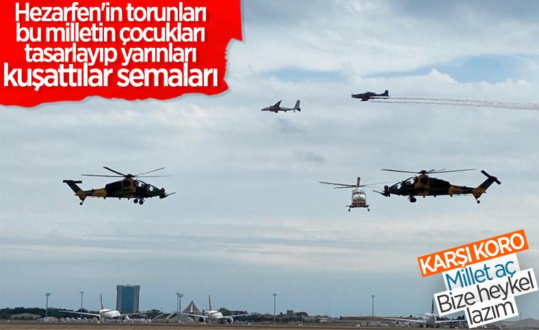 Türk Savunma Sanayii'nin yıldızları gökyüzünde bir arada