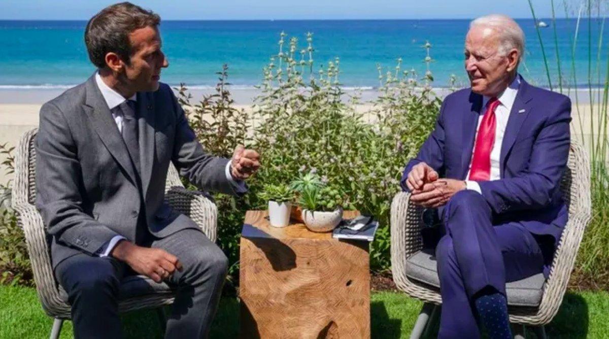 Emmanuel Macron ve Joe Biden, denizaltı krizini telefonda görüştü #3