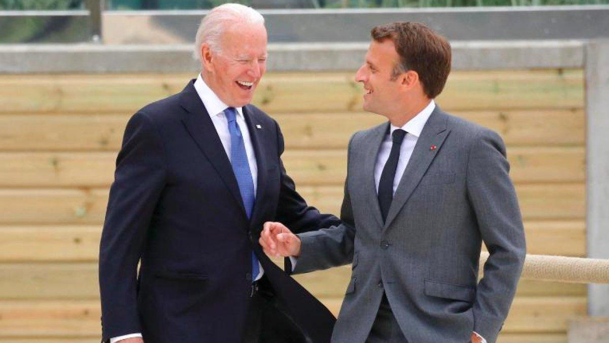 Emmanuel Macron ve Joe Biden, denizaltı krizini telefonda görüştü #4