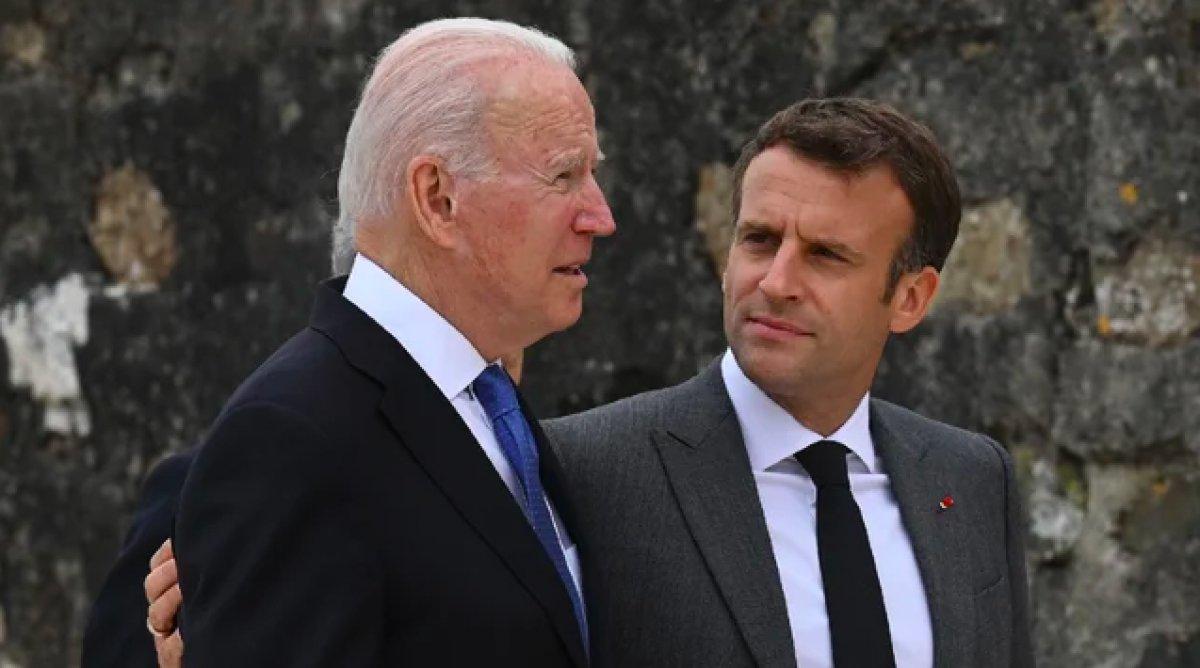 Emmanuel Macron ve Joe Biden, denizaltı krizini telefonda görüştü #5