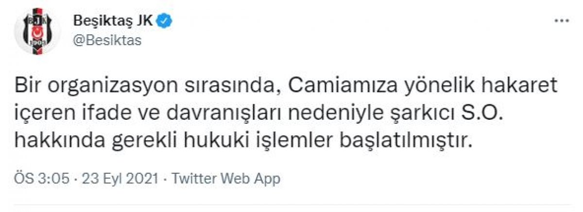 Serdar Ortaç tan Beşiktaşlıları kızdıran sözler #3