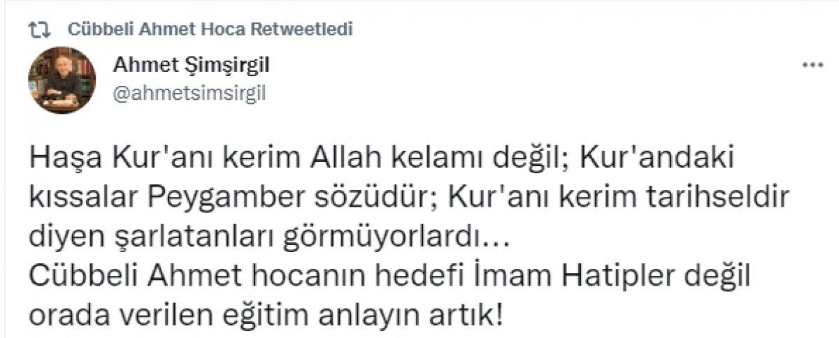 Cübbeli Ahmet ten imam hatip tepkilerine ilk cevap #1