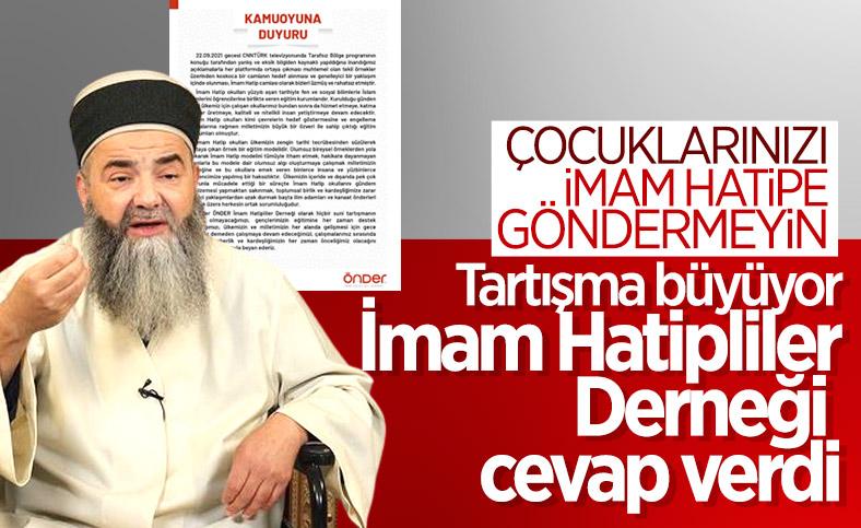 ÖNDER İmam Hatipliler Derneği'nden Cübbeli Ahmet'e tepki