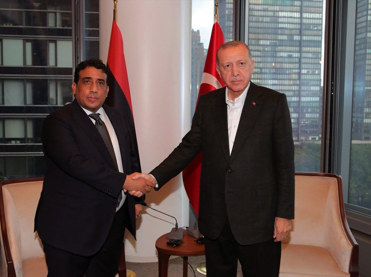Cumhurbaşkanı Erdoğan, el-Menfi ile görüştü #1