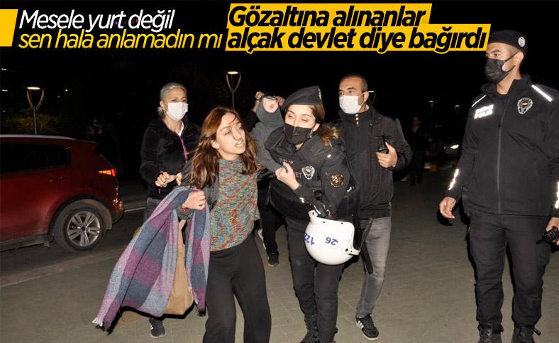 Eskişehir'de yurt provokasyonu: Gözaltına alınanlar devlete hakaret etti