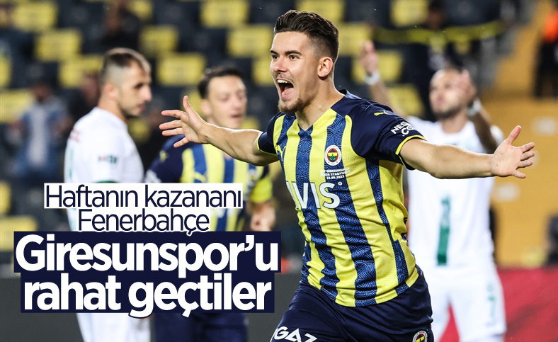Fenerbahçe, Giresunspor'u 2 golle geçti