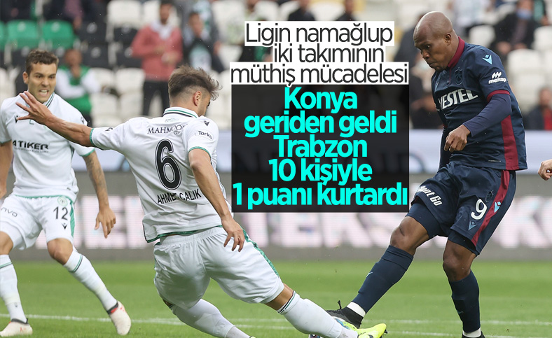 Trabzonspor, Konyaspor'la berabere kaldı