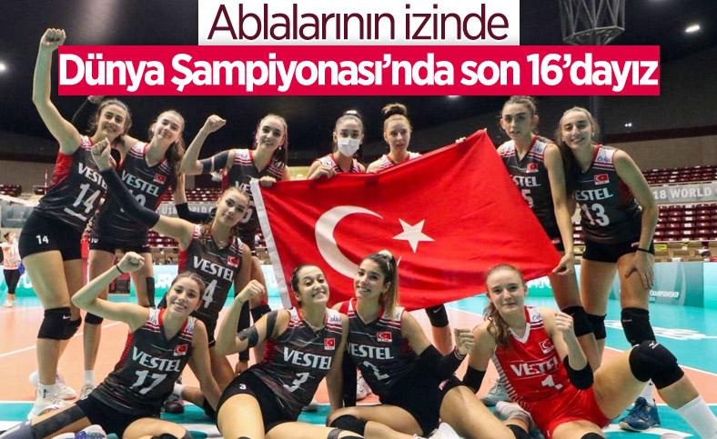 Türkiye, Dünya 18 Yaş Altı Kadınlar Voleybol Şampiyonası'nda son 16'da