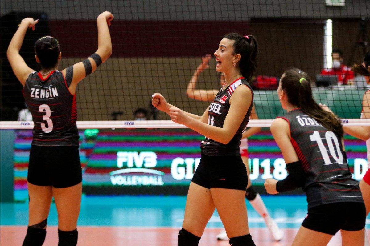 Türkiye, Dünya 18 Yaş Altı Kadınlar Voleybol Şampiyonası nda son 16 da #3