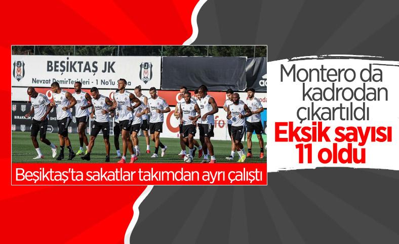 Beşiktaş'ta Montero da kadrodan çıkarıldı