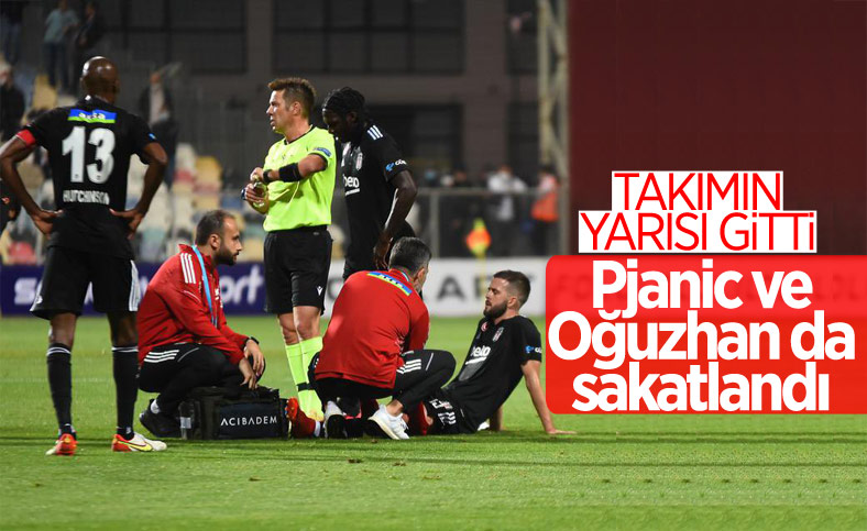 Beşiktaş'ın iki oyuncusu daha sakatlandı