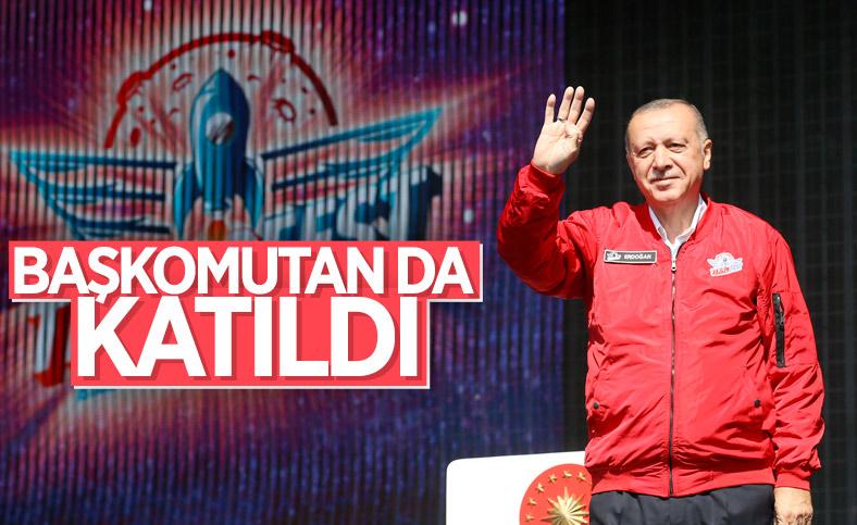Cumhurbaşkanı Erdoğan, TEKNOFEST'e katıldı