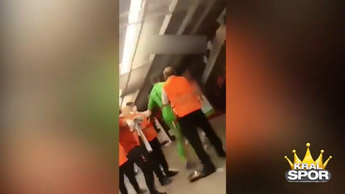 Muslera Alanya maçı sonrası rakip oyunculara saldırdı #2