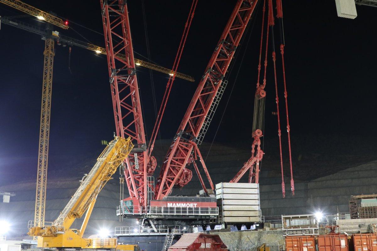 Akkuyu NGS de dünyanın en güçlü inşaat vinçlerinden biri daha devreye #1