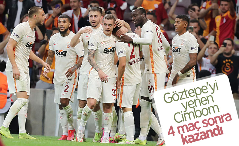 Galatasaray, Göztepe'yi yenerek 4 maç sonra kazandı