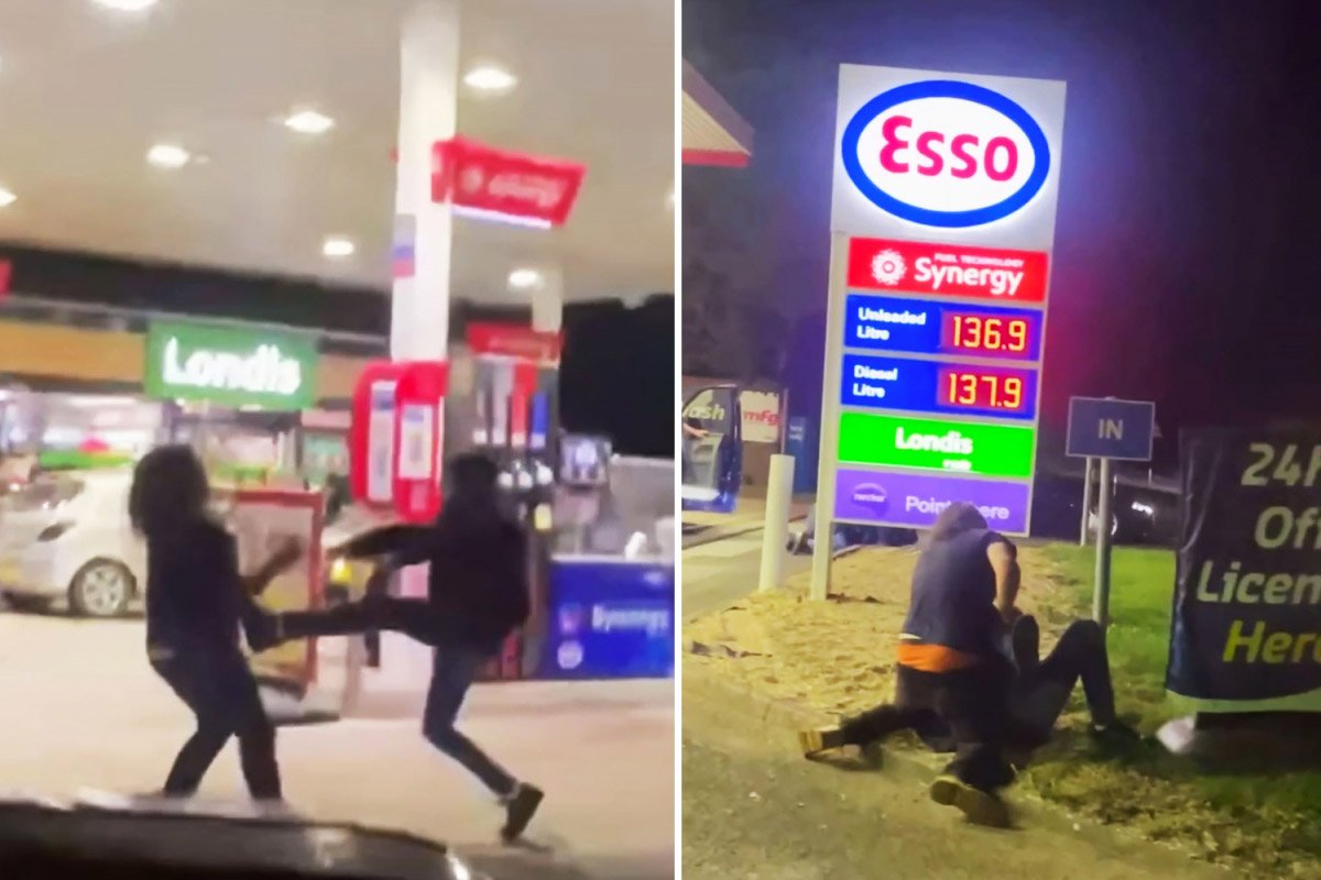 İngiltere de benzin kuyruğunda kavgalar başladı #2