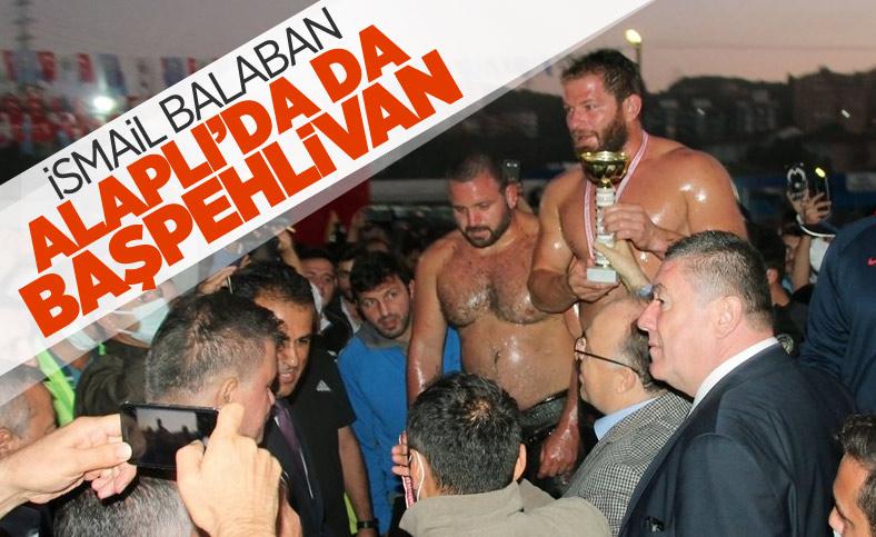 İsmail Balaban, Alaplı Yağlı Güreşleri'nde ilk kez başpehlivan oldu