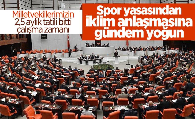 Meclis'in kapıları 1 Ekim'de açılıyor