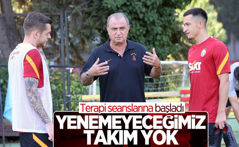 Fatih Terim'den oyunculara moral