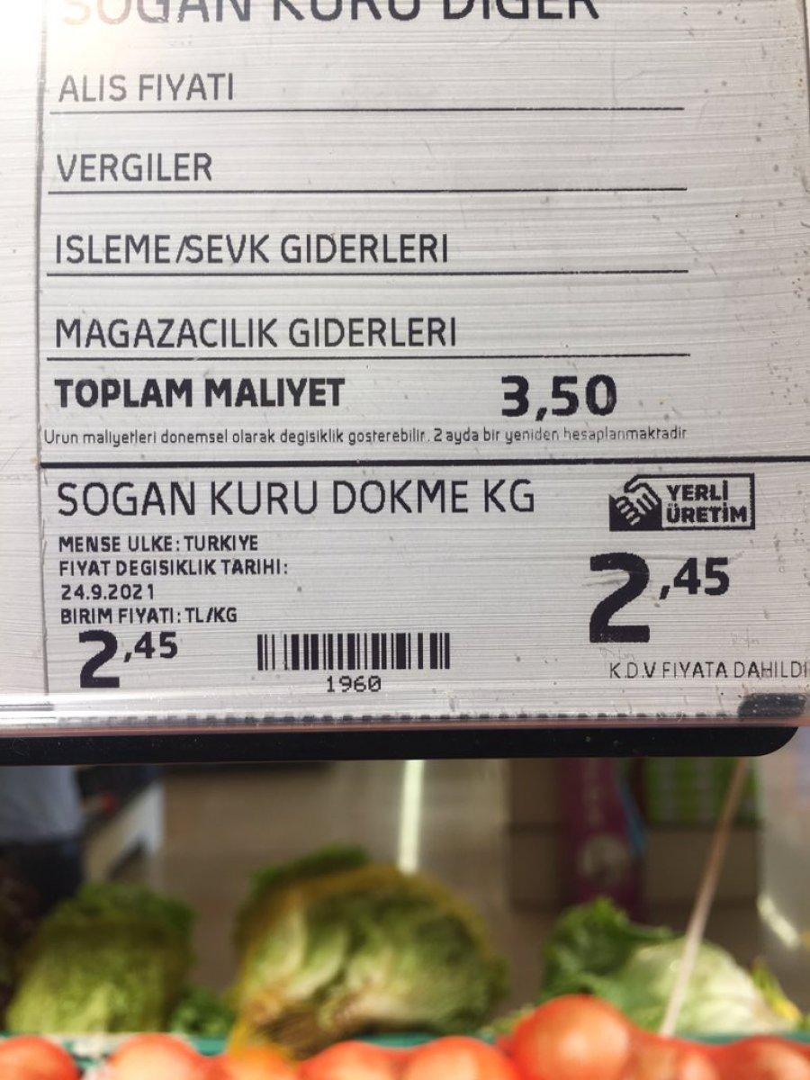 Zincir marketlerde sebzeler toplam maliyetin altına satılıyor iddiası  #6