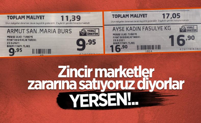 Zincir marketlerde sebzeler toplam maliyetin altına satılıyor iddiası