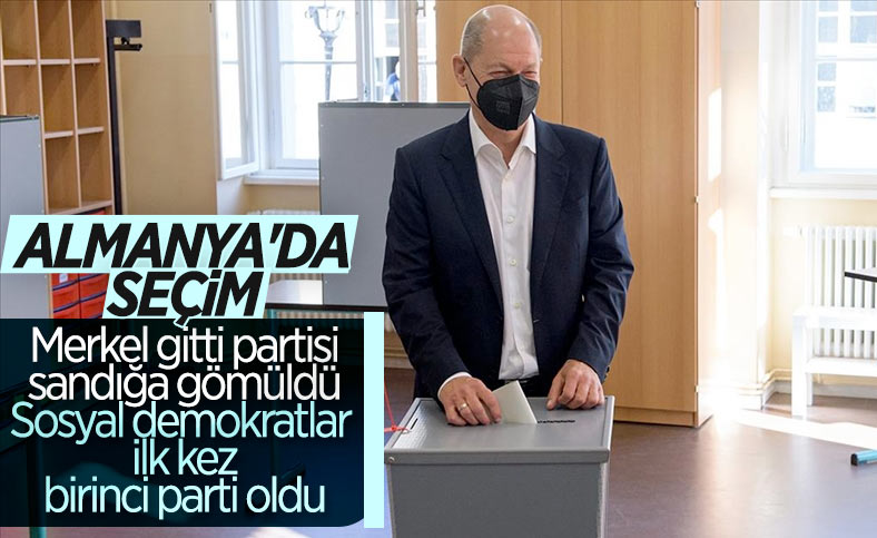 Almanya'daki seçimde Sosyal Demokrat Parti oyların yüzde 25,8'ini aldı
